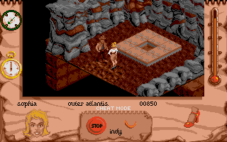 Indiana Jones and The Fate of Atlantis: The Action Game Atari ST Level 6 - The entrance to Atlantis.