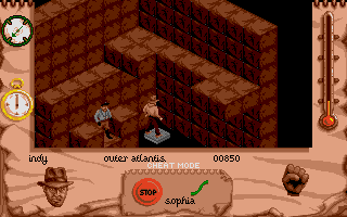 Indiana Jones and The Fate of Atlantis: The Action Game Atari ST Level 6 - Atlantis is allready crawling with Nazis. Indy needs to move quick if he is going to stop them now.