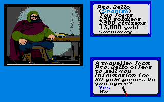 Sid Meier's Pirates! Atari ST You can buy info from seamen at the tavern.