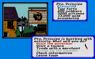 Sid Meier's Pirates! Atari ST At an inland town.