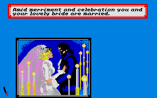 Sid Meier's Pirates! Atari ST Getting married.