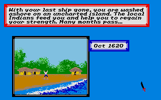 Sid Meier's Pirates! Atari ST Shipwrecked!