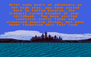 Sinbad and the Throne of the Falcon Atari ST The story so far...