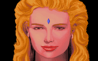 Sinbad and the Throne of the Falcon Atari ST The beautiful princess.