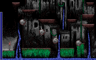Sinbad and the Throne of the Falcon Atari ST Avoid the rocks while climbing out of this chasm in this arcade sequence.