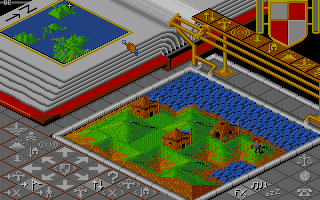 Populous Atari ST A small village.