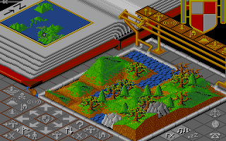 Populous Atari ST A forest.