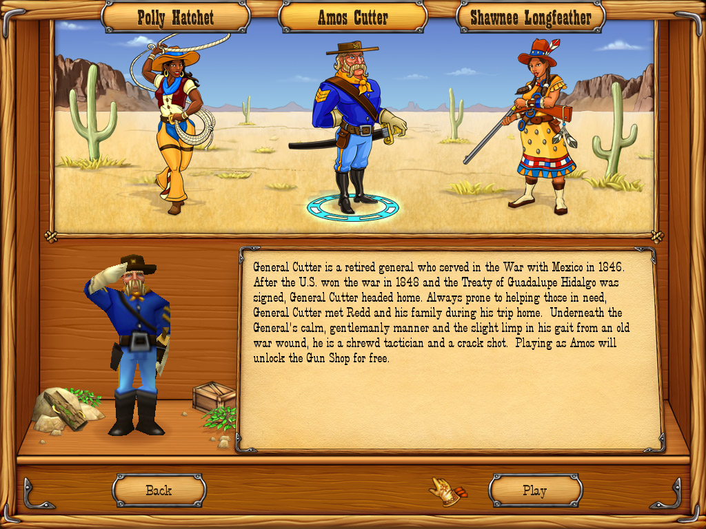 Westward III: Gold Rush Windows Hero selection