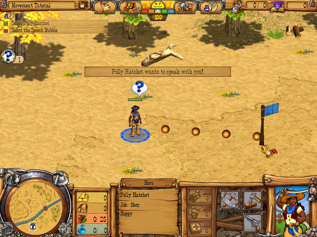 Westward III: Gold Rush Windows Setting a way point.