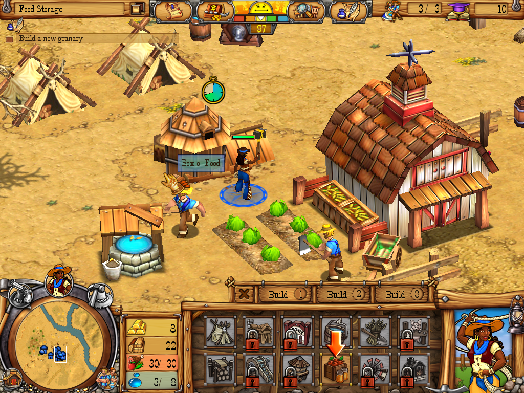 Westward III: Gold Rush Windows Building a granary.