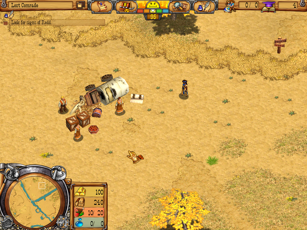 Westward III: Gold Rush Windows Trapped settlers
