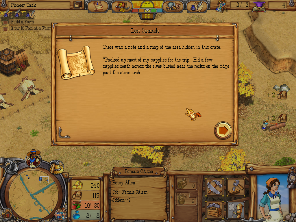Westward III: Gold Rush Windows Map