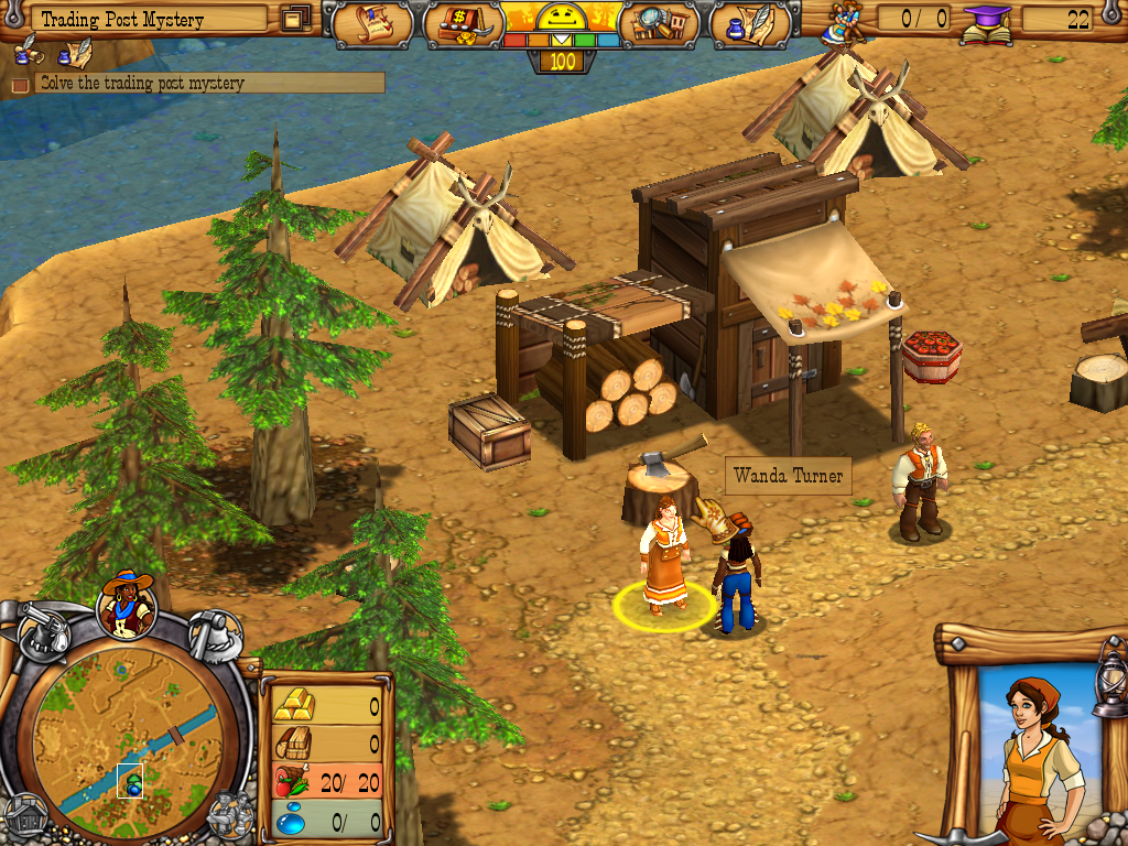 Westward III: Gold Rush Windows Lumber camp by the river