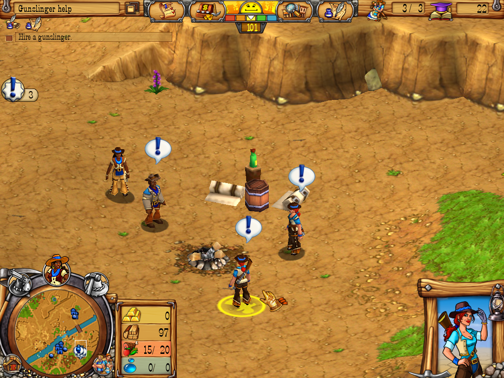 Westward III: Gold Rush Windows Gunslingers for hire