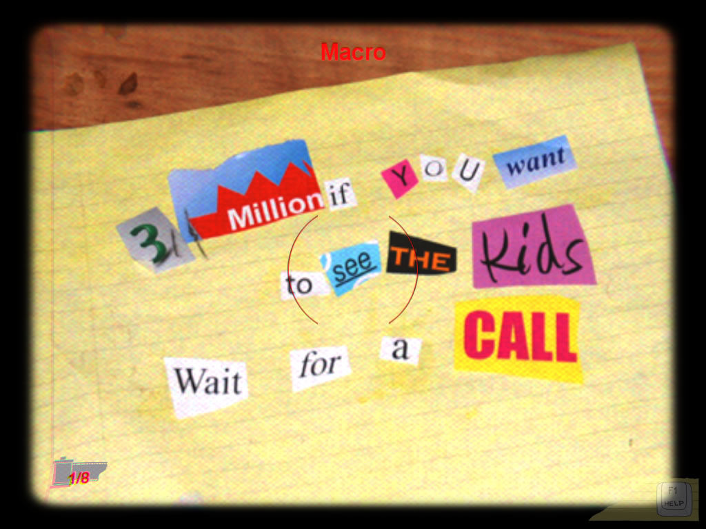 Casebook: Episode I - Kidnapped Windows The ransom note