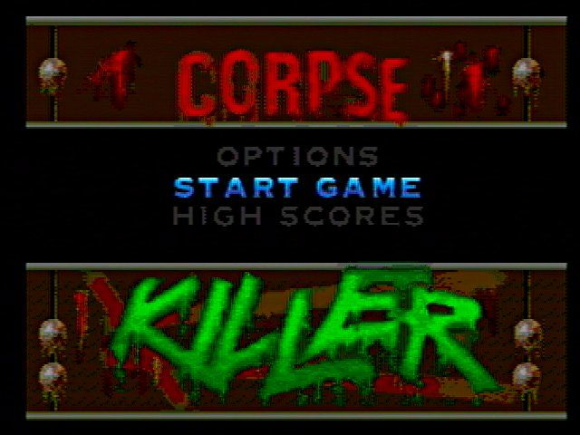 Corpse Killer SEGA 32X Title Screen