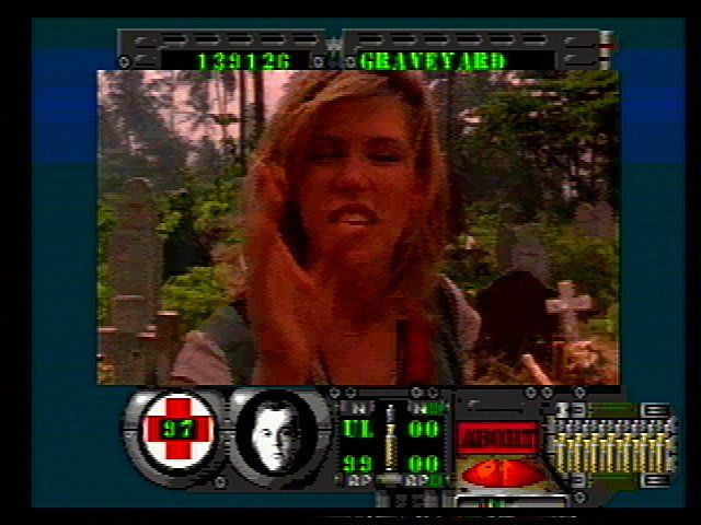 Corpse Killer SEGA 32X The annoying reporter chick