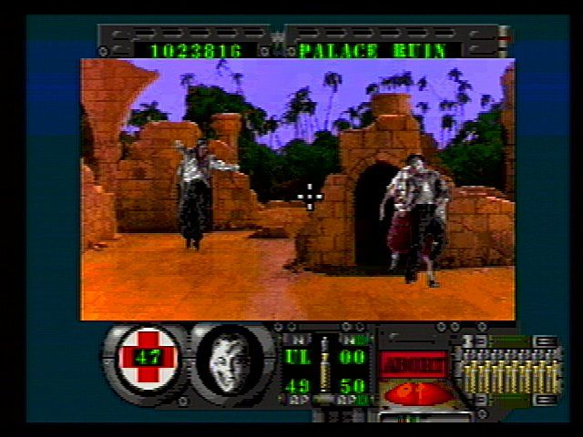 Corpse Killer SEGA 32X The Palace Ruins have been taken over by gang bangers.