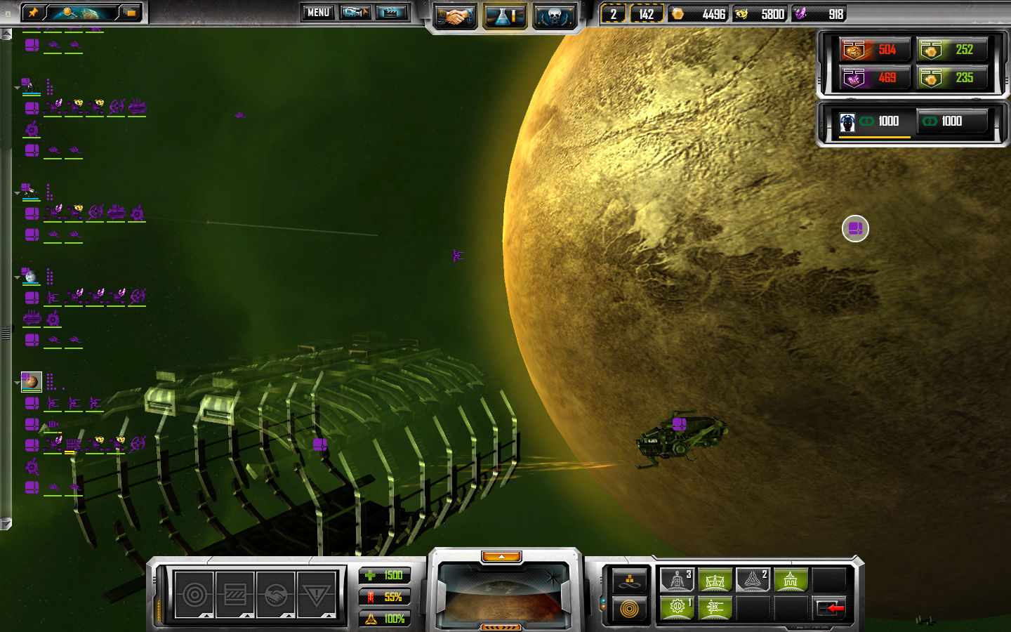 Sins of a Solar Empire Windows A TEC Constructor ship, building my new fregate factory