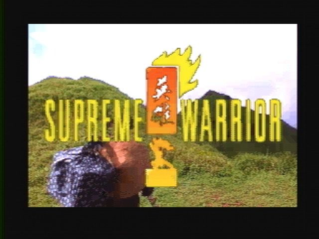 Supreme Warrior SEGA 32X Title Screen