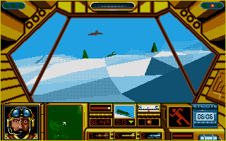 Midwinter Atari ST Snow mobiling.