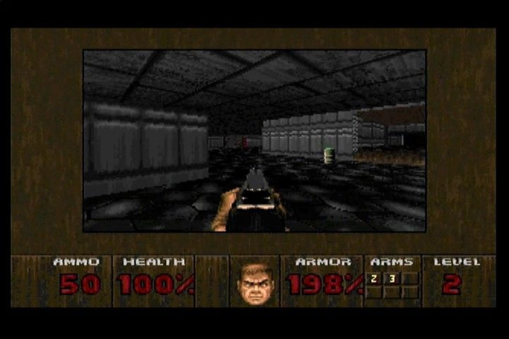 DOOM 3DO Like many of the other console ports, textures are limited and reused often.