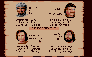 Defender of the Crown Apple IIgs Choose your character to play as.