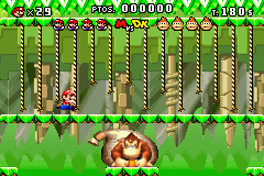 Mario vs. Donkey Kong Game Boy Advance Fighting Donkey in his habitat