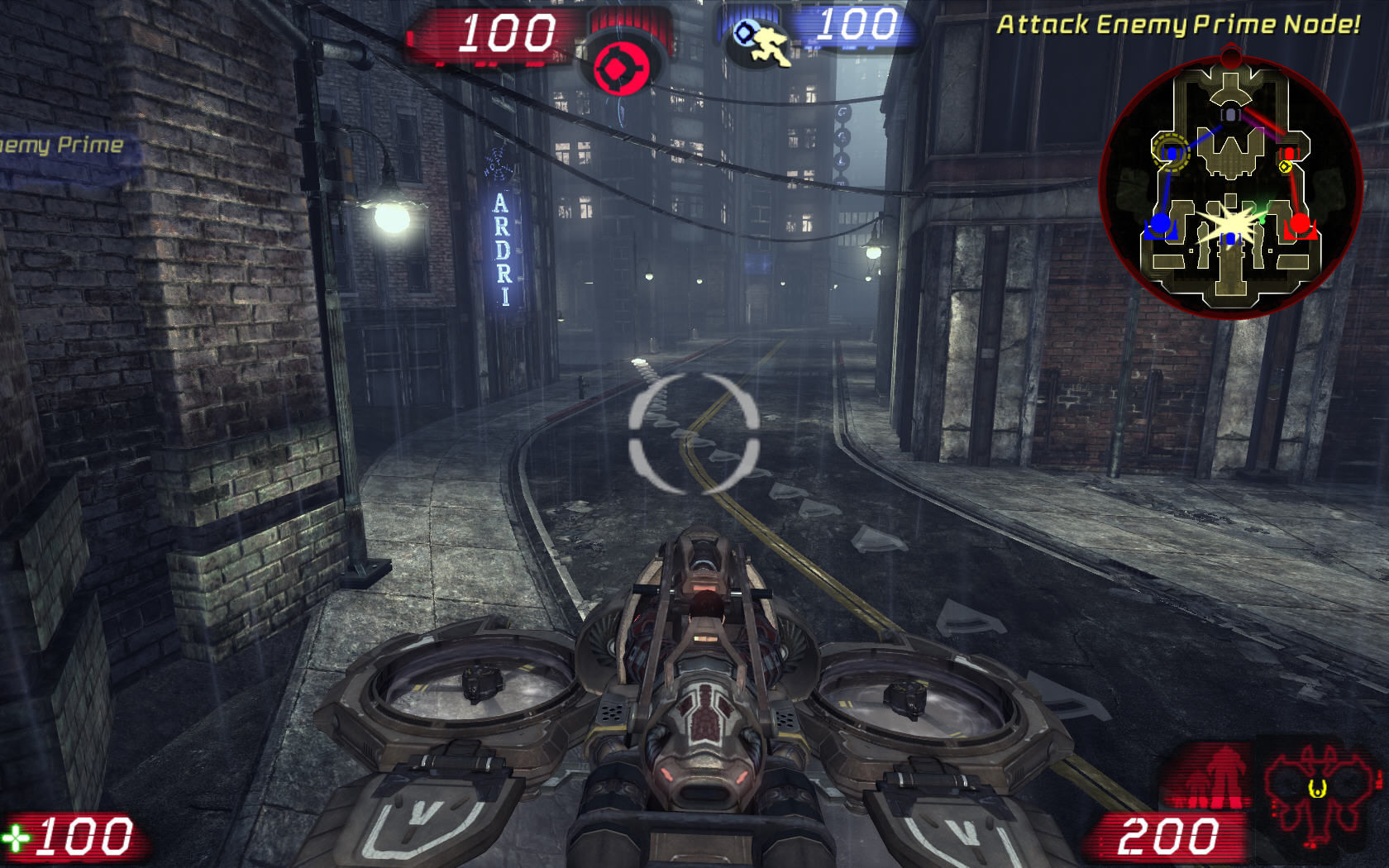 Unreal Tournament III Windows Using an Axon Manta vehicle.