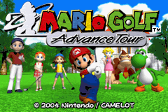 Mario Golf: Advance Tour Game Boy Advance Title Screen
