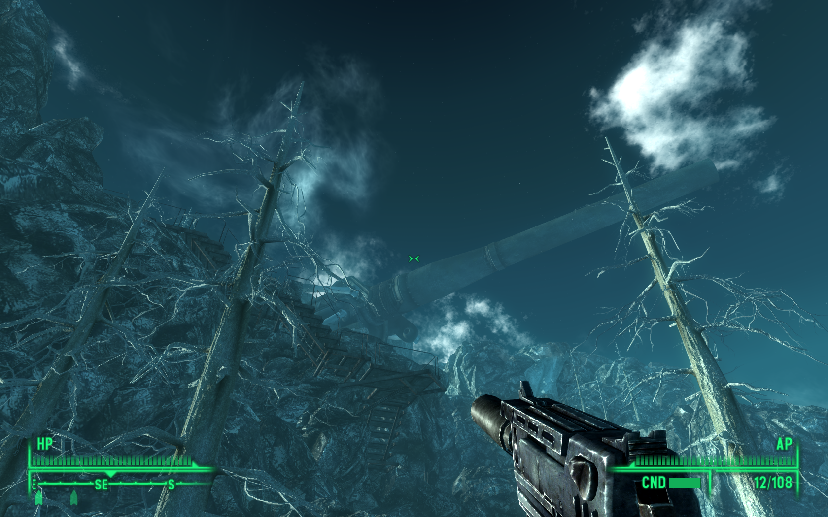 Fallout 3: Operation: Anchorage Windows Our mission objective is to place explosive charges on these cannons.