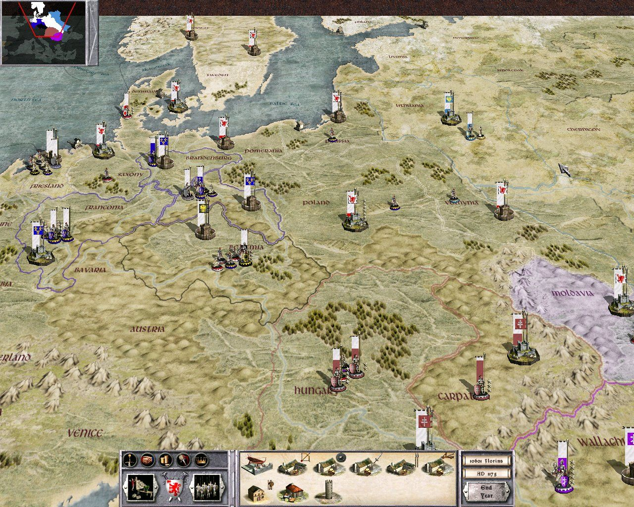 Medieval: Total War Windows Tactical screen