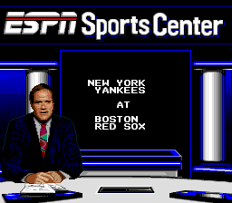ESPN Baseball Tonight SNES Presenting the game