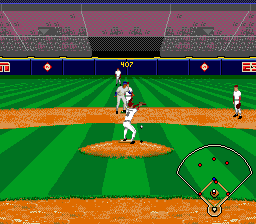 ESPN Baseball Tonight SNES Getting ready to catch the ball pose