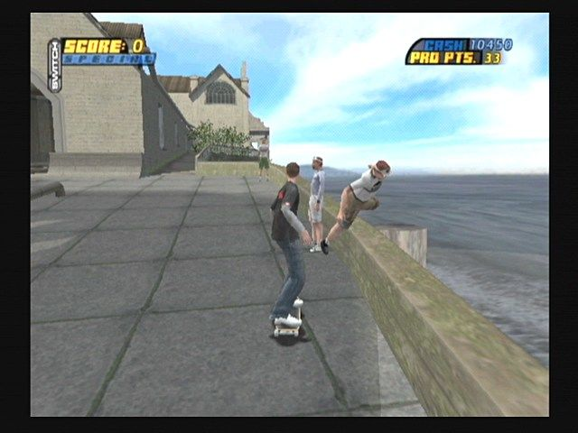 Tony Hawk's Pro Skater 4 GameCube Knock Tourists into the Water