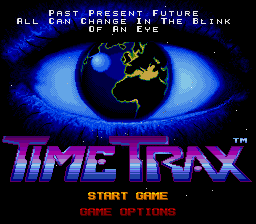 Time Trax SNES Title screen