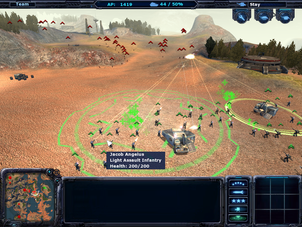 Ground Control II: Operation Exodus Windows Terran troops attempt to surround us