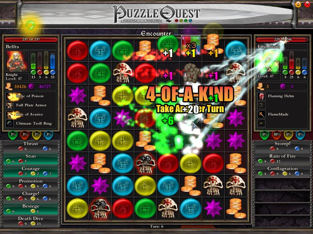 Puzzle Quest: Challenge of the Warlords Windows Ah, that hurts!