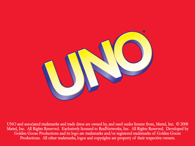 UNO Undercover Windows Title screen