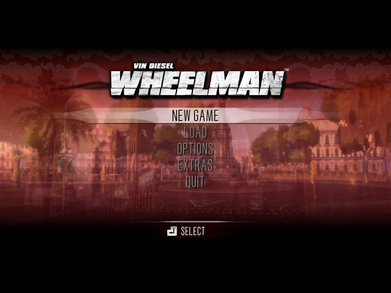 Wheelman Windows Main Menu