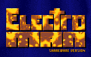 Electro Man DOS Electro Man title screen (Epic Games shareware version)