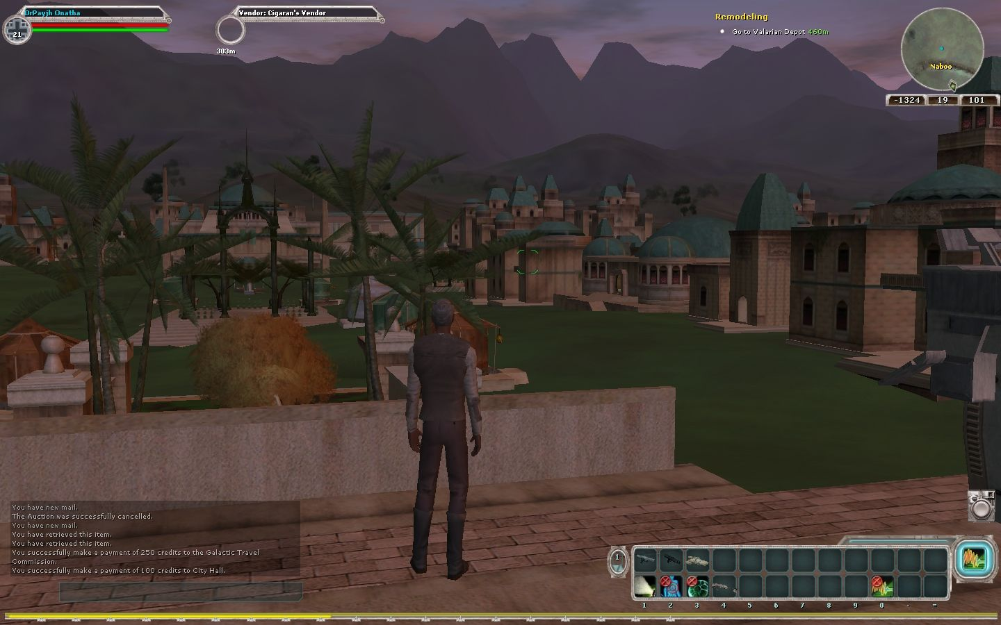 Star Wars: Galaxies - The Complete Online Adventures Windows Alacio Island, Naboo (Bria server) December, 2006