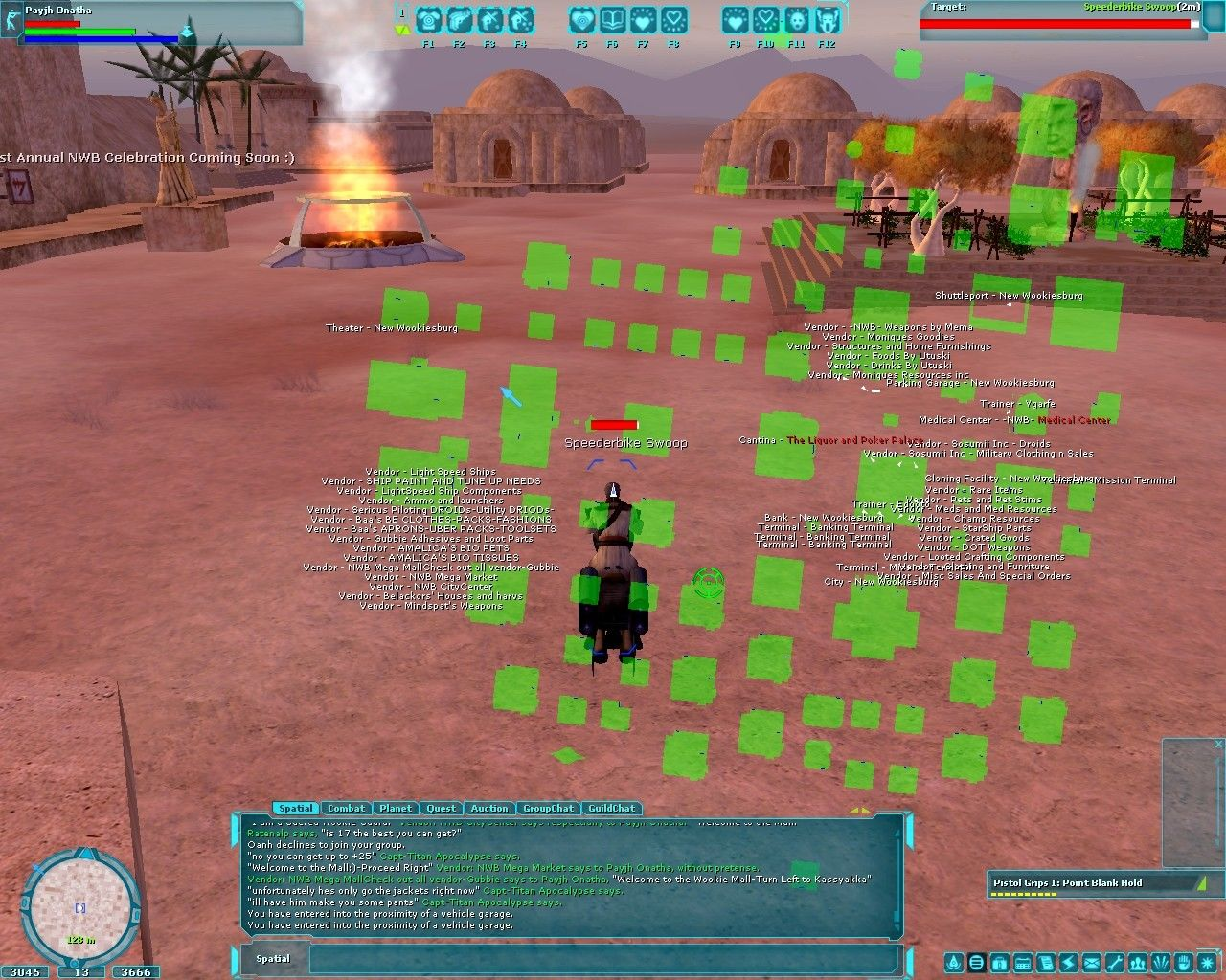 Star Wars: Galaxies - An Empire Divided Windows Pre-CU New Wookiesburg, Lok on the Bria Server. All the buildings are player placed and owned.