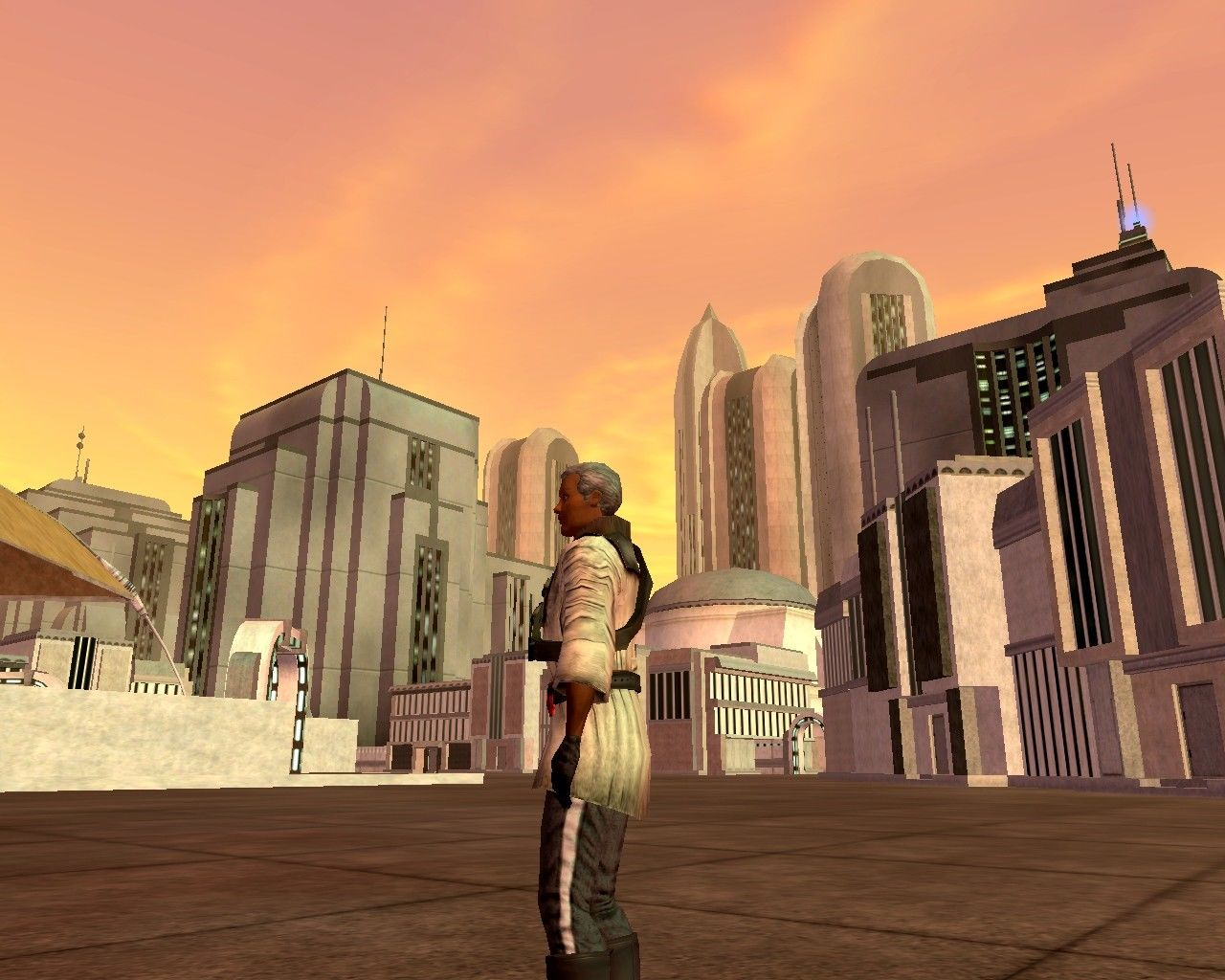 Star Wars: Galaxies - An Empire Divided Windows Downtown Coronet, at the marketplace near the Medical Center.