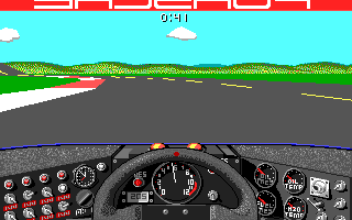 Stunts Amiga Behind the steering wheel of a Porsche 962