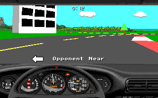 Stunts Amiga My opponent is trying to overtake me.