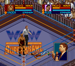 WCW SuperBrawl Wrestling SNES The announcer is impressed