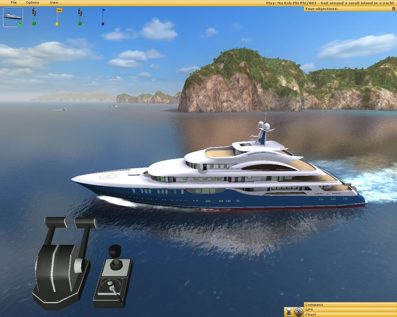 Ship Simulator 2006 Windows Sailing to open sea, well done !