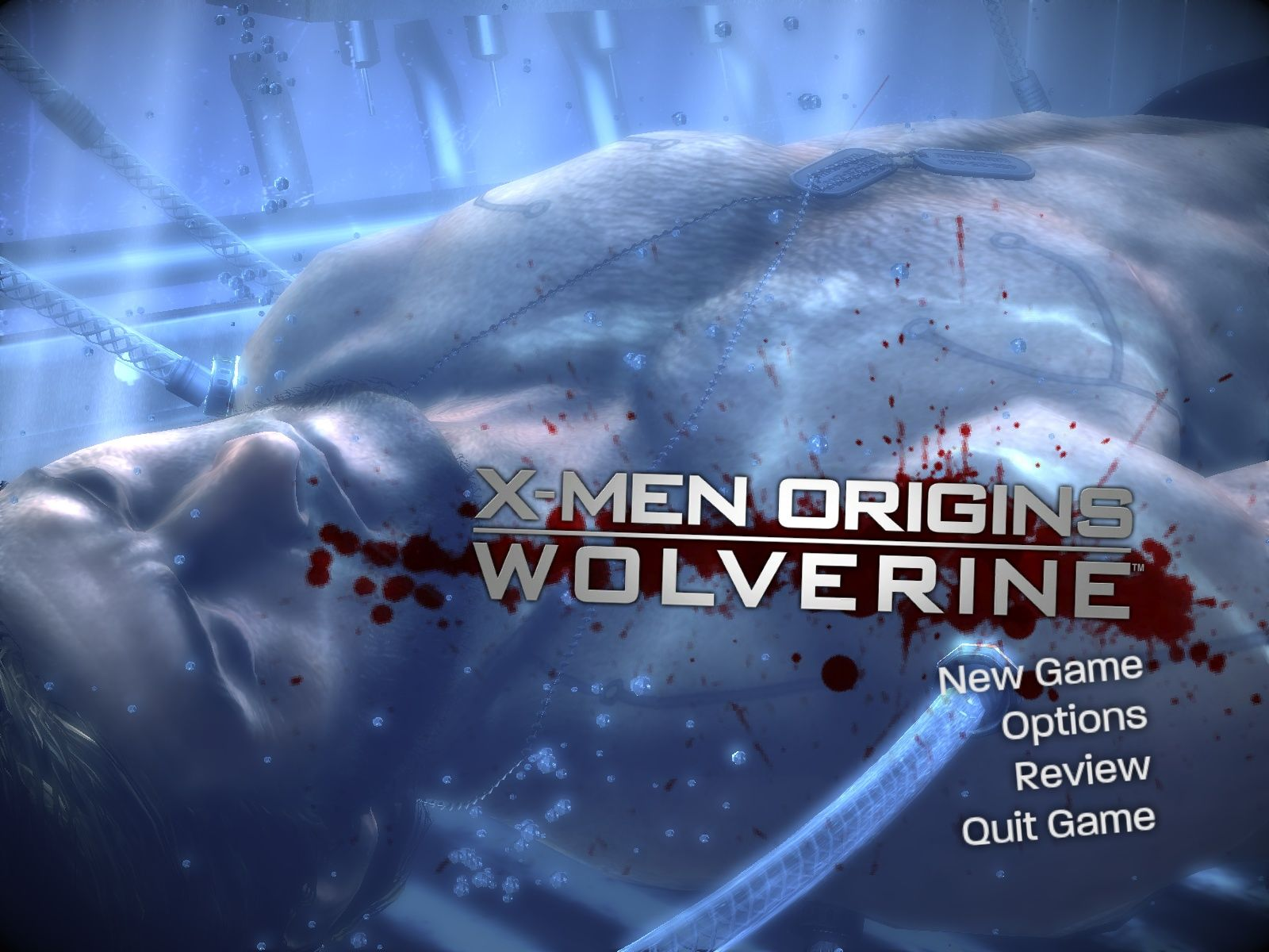 X-Men Origins: Wolverine - Uncaged Edition Windows Main menu