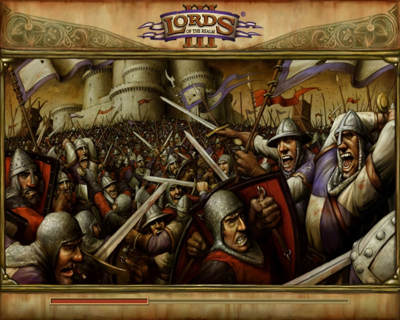 Lords of the Realm III Windows Loading Screen